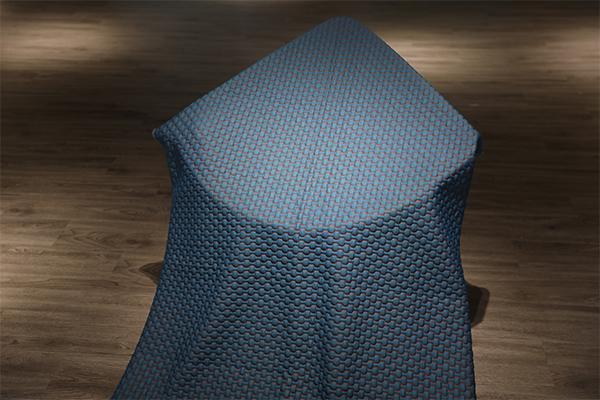 Синяя решетка полноценного трикотажного воздушного слоя