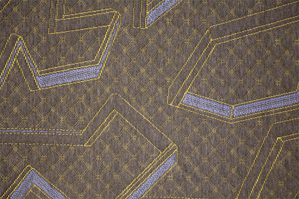 Синий желтый геометрический конопля серый вязаный воздушный слой