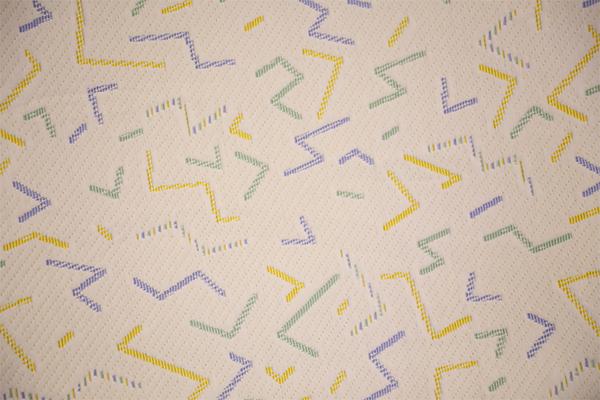 Детский трикотажный воздушный слой с полностью полиэфирными цветными линиями